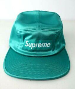 Supreme SS17 Satin Box Logo Camp Cap Hat Light Teal Box Logo S/S 17 Box Bogo