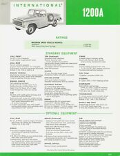 1965 International Pickup Truck Model 1200A Vintage Dealer Sales Brochure