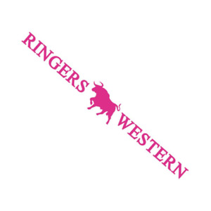 Signature Bull Pink Long Die Cut Sticker