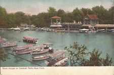 NEW YORK CITY - Central Park - Boat House - Canopied Boats