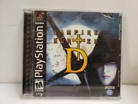 SONY PLAYSTATION 1 PS1 GAME VAMPIRE HUNTER D 2000 COMPLETE FREE SHIPP READ!