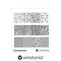 Winstonia Nail Art Stamping Image Plate EXPRESSIONISM Abstract Template Stencils