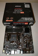 MSI B450M PRO-VDH MAX AM4 AMD B450 SATAIII USB3.2 Gen1 Micro-ATX Motherboard