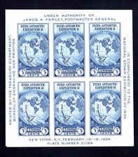 #735 3¢ BYRD Antarctic Expedition II Souvenir Sheet Mint No Gum As Issued