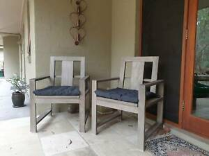 Pottery Barn Indio Dining Chairs Outdoor x 2