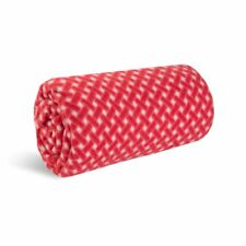 World's Best Cozy-Soft Microfleece Travel Blanket 50 x 60 Inch, Bamboo Red Throw