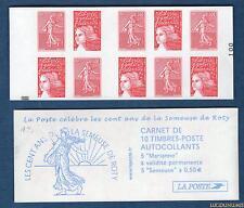 Carnet - 1511a - Type Les cent ans de la semeuse de Roty - Carré Noir -  N° 3419