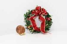 "Dollhouse Miniature 1:12 Artisan Holiday Wreath by ""Doll House Christmas Shop"""