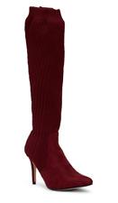Catherine Malandrino Domhigh Women's Burgundy Knit Tall Boot Sz 8.5 3085 *