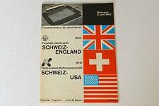 More details for switzerland v england (1963) programme (excellent)