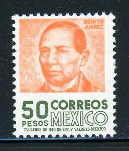 MEXICO MNH Selections: Scott #1081 50P Benito Juarez WMK300 CV$10+