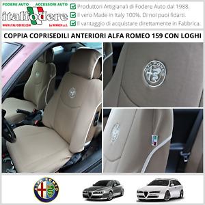 COPPIA COPRISEDILI Specifici Alfa Romeo 159 / SW Fodere Foderine SOLO ANTERIORI