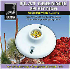 Reptile - Flat Ceramic Light Fitting ES 240volt ( note ceramic fitting only )