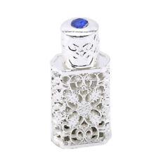 Creative Metal Silver Color Antique Perfume Bottle Essential Oils Glass Bottle S