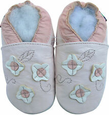 shoeszoo soft sole leather toddler shoes  flower light pink 3-4y S