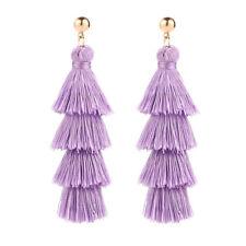 Fashion Women Bohemian Long Tassel Earrings Dangle Fringe Drop Elegant Jewelry