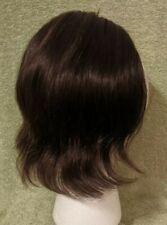 """Vtg Nu-Look 10"""" Half Wig Human Hair Topper Wiglet Dark Brown """"le beau monde"""""""