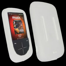 NEW White Silicone Skin for SanDisk Sansa Fuze Plus+ Case MP3 Fuse+ Cover Holder