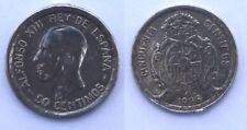 Moneta Spagna  - 50 Centimos Peseta - Argento - Anno 1926