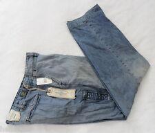 RARE~Ralph Lauren Polo Jeans DUNGAREES MILITARY PANT SUNBLEACH dress Denim~Sz 34