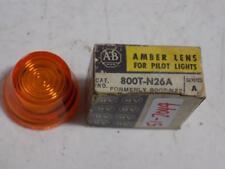 ALLEN BRADLEY AMBER LENS FOR PILOT LIGHT 800T-N26A SERIES A
