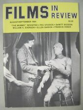 FILMS IN REVIEW AUGUST/SEPTEMBER 1984 THE MUMMY REVISITED BORIS KARLOFF