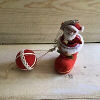 Vintage Santa Claus Spring Balloon Christmas Ornament Cool Retro Decoration VTG