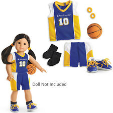 """American Girl TRULY ME BASKETBALL OUTFIT for 18"""" Dolls Blue Yellow Clothes NEW"""
