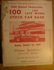 USAC Championship Bettenhausen Stock Car Race October 18 1964 Illiana Speedway