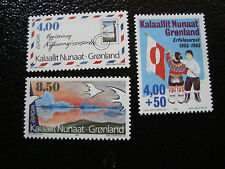 GROENLAND (danemark) - timbre - yt n° 250 a 252 nsg (A3) stamp greenland