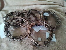"""6"""" Grapevine Vine Twig Wreaths Lot of 6 New"""