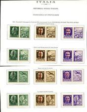 ITALY 1944 SOCIAL REPUBLIC PROPAGANDA SE TENANT MINT UM...12 PAIRS
