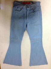 Fishbone  Jeans Hose Schlaghose Blau Unifarben W28 L32