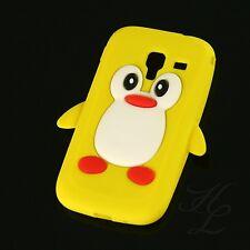 Samsung Galaxy ACE 2 i8160 Handy Silikon Case Schutz Hülle Etui Pinguin Gelb 3D