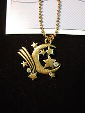 """""""JJ"""" Jonette Jewelry Bronze Pewter 'MOON & STARS - Hip Hugger' Chain"""