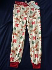 Boys' Size 8/10 Fleece Reindeer Themed PJ Bottoms-NEW WITH TAGS!