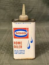 Vintage SOHIO HOME OILER Tin Oil Can Emty 4 Oz. Cleveland Ohio Nice Graphics