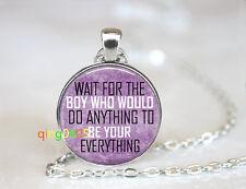 Boyfriend Girlfriend Valentine Tibet silver Chain Pendant Necklace wholesale