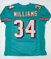 Ricky Williams Autographed Teal Pro Style Jersey- JSA W Authenticated