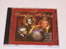 A Country Holiday Christmas songs music CD George Jones Tanya Tucker Jody Mllr*^