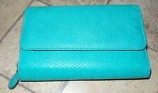 Women's Large Faux Leather / PU, Wallet / Clutch - Aquamarine