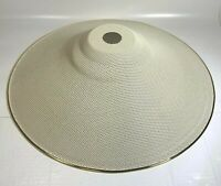 Large Metal Pendant Cone Light Shade in White with Gold Rims by Glenwood Designs