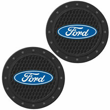 Plasticolor 000651R01 Ford Oval Cup Holder Coaster Universal New 2 PACK