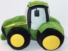 "John Deere Tractor Throw Pillow Decorative Bed Bedroom Kids Green Farm 14"" Long"