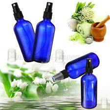 30~100l Blue Glass Bottle Fine Mist Spray Aroatherapy Perfue Essential Oil  *