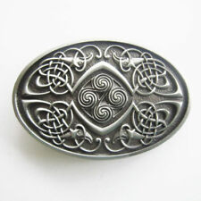 Classic Keltic Celtic Knot Oval Western Metal Fashion Belt Buckle