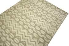 Tapis 160x230 cm laine et viscose Touffeté à la main beige gris moucheté