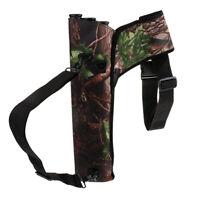 3-Tube Archery Quiver Back Waist Shoulder Bag Arrow Holder Pouch for Hunting