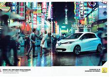 Publicité Advertising 127  2013  Renault  l(2p)  la Zoe  voiture éléctrique