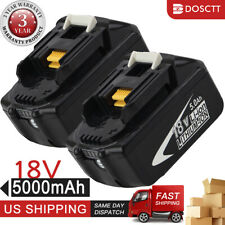 BL1850B-2 For Makita BL1860B 18V Battery 5.0 AH LED Gauge 18 Volt LXT-400 2 PCS